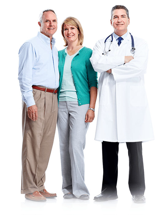 Doctor with husband and wife patients - StimMed