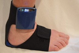 StimMed StimSox worn on the foot